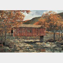 Eric Sloane (American, 1905-1985)      Vermont Autumn