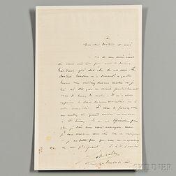 Gottschalk, Louis M. (1829-1869) Autograph Letter Signed.