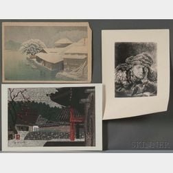 Two Hasui and Saito Woodblock Prints