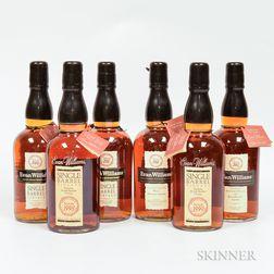 Evan Williams Single Barrel Vertical, 6 750ml bottles