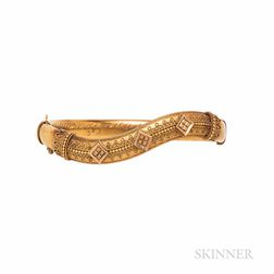 Antique Etruscan Revival Gold Bracelet