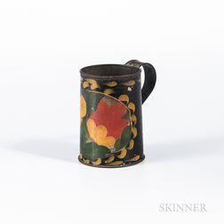 Painted Tin Mug