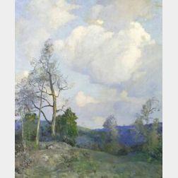 William Jurian Kaula (American, 1871-1953)  Upright Landscape