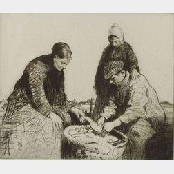 William Lee-Hankey (British, 1869-1952)    Fisherfolk.