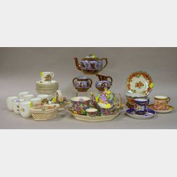 Eight-Piece Set of Royal Worcester Dorchester Pattern Porcelain Demitasse Cups and Saucers, a Six-Piece Royal Winton Julia Pattern Brea