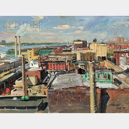 John Paul Manship (American, 1927-2000)      West Village Roofs