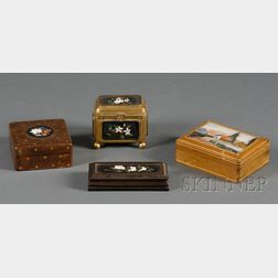 Four Pietra Dura Mounted Boxes