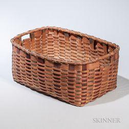 Maine Indian Woven Splint Basket