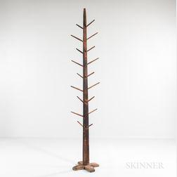 Tall Pine Cross-base Hat Rack