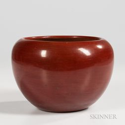 Contemporary San Ildefonso Redware Bowl