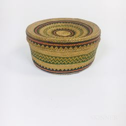 Northwest Coast Twined Lidded Basket
