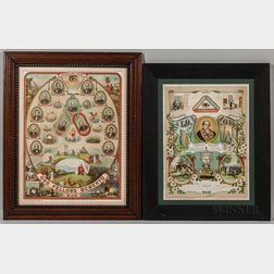 Two Framed Odd Fellows Lithographs