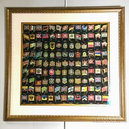 Framed Collection of Melachrino Tobacco Silks