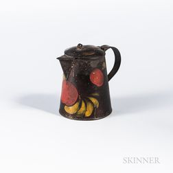Painted Tin Cream Pitcher