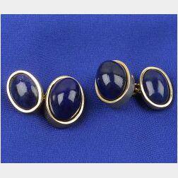 18kt Gold and Lapis Lazuli Cufflinks