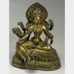 Gilt Bronze Image of a Deity