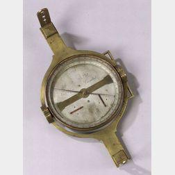 Rare Brass Vernier Surveyor's Compass by Benjamin Platt