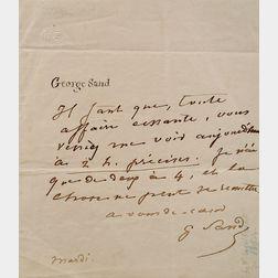 Sand, George (1804-1876) (Dudevant, Amandine Aurore Lucie Dupin, Baronne)