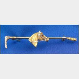 14kt Bi-color Gold Brooch, Cartier