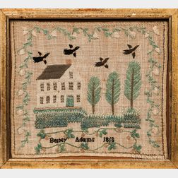Pair of Needlework Samplers by Nancy Adams and Betsey Adams