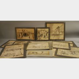Vernon Howe Bailey (American, 1874-1953)      Extensive Group of Drawings