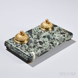 Empire-style Marble and Gilt-bronze Inkstand