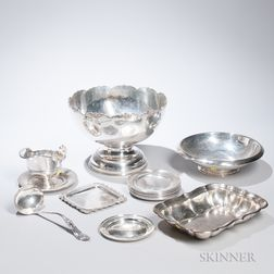 Group Sterling Silver and Silver-plated Tableware
