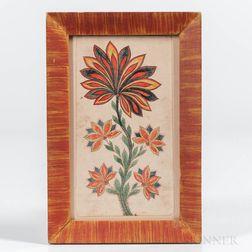 American School, Mid-19th Century      Polychrome Flower