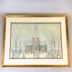 James Moore Preston (British, 1873-1962)    Independence Hall