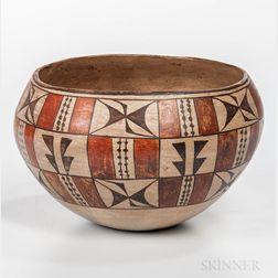 Acoma Polychrome Pottery Bowl
