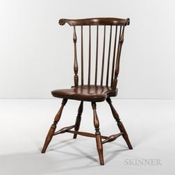 Carved Fan-back Side Chair