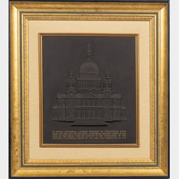 Wedgwood Limited Edition Black Basalt St. Paul's Cathedral Plaque