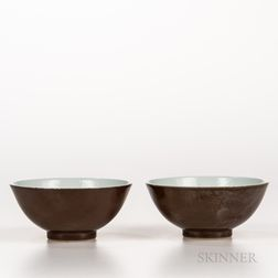 Pair of Batavia-glazed Bowls
