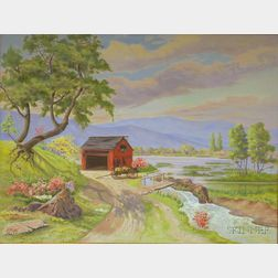Two Framed Oil on Canvas Works by Carl F. Mutti (American, 20th Century), Un Jour de Printemps