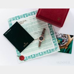 Rolex 18kt Gold and Stainless Steel Lady's Datejust Reference 79163 Wristwatch with Box and Papers