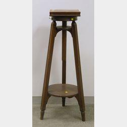 Wooden Adjustable Sculptor's Pedestal