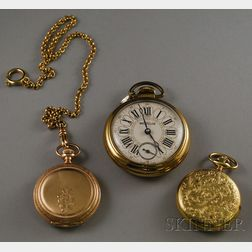 Three Pocket Watches and a Watch Chain