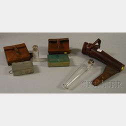 Three Vintage Equestrian Leather Cased Accessories