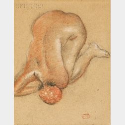Aristide Maillol (French, 1861-1944)      Portrait of a Crouching Nude