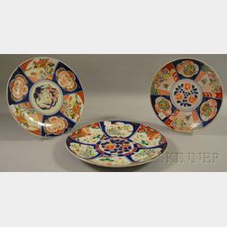 Three Imari-decorated Porcelain Chargers