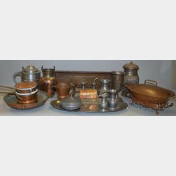 Nineteen Mostly Copper, Brass, and Pewter Items