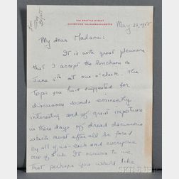 Olivier, Sir Laurence (1907-1989) Autograph Letter Signed, 22 May 1958.