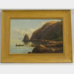 C. Myron Clark (Massachusetts, 1858-1925)       Shore Scene with Rowboat