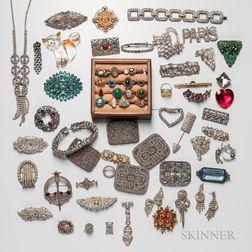 Group of Rhinestone Jewelry and Costume Rings
