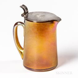 Tiffany Studios Gold Favrile Lidded Pitcher