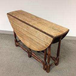 Charles II Oak Gate-leg Drop-leaf Table