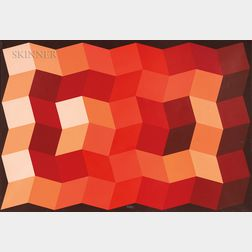 Yvaral (Jean-Pierre Vasarely) (French, 1934-2002)      Carbone Orange