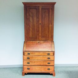 Chippendale Cherry Desk/Bookcase