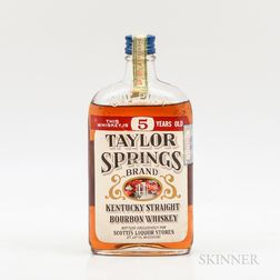 Taylor Springs 5 Years Old 1935, 1 pint bottle
