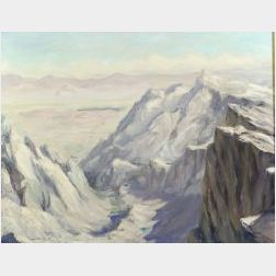 Arnold Warburton Lahee (American, b. 1888)  East from Top of Mt. Whitney